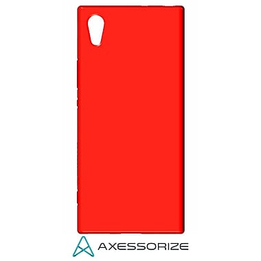 Axessorize Tempered Glass Screen Protector/Cell Phone Case Combo for Sony Xperia XA1, Candy Red (SON1403)