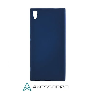 Axessorize Tempered Glass Screen Protector/Cell Phone Case Combo for Sony Xperia XA1 Ultra, Blue (SON1411)