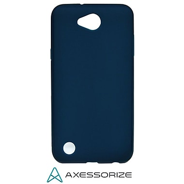 Axessorize Tempered Glass Screen Protector/Cell Phone Case Combo for LG X Power 2, Blue (LG1551)