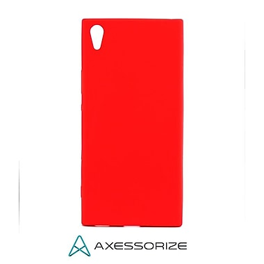 Axessorize Tempered Glass Screen Protector/Cell Phone Case Combo for Sony Xperia XA1 Ultra, Candy Red (SON1413)