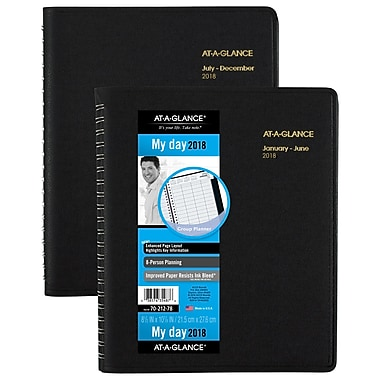 2018 AT-A-GLANCE® 8 Person Daily Appointment Book/Planner, 8 1/2