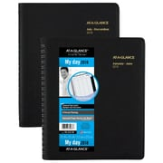 "2018 AT-A-GLANCE® 8 Person Daily Appointment Book/Planner, 8 1/2"" x 11"", Black (70-212-78-18)"