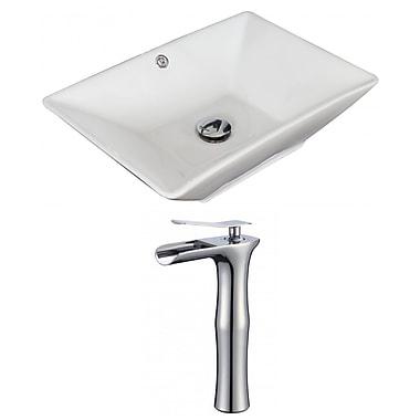 Jade Bath Above Counter Rectangular Vessel Bathroom Sink w/ Overflow