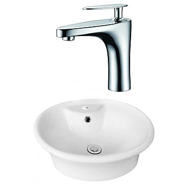 Jade Bath Above Counter Oval Vessel Bathroom Sink w/ Overflow