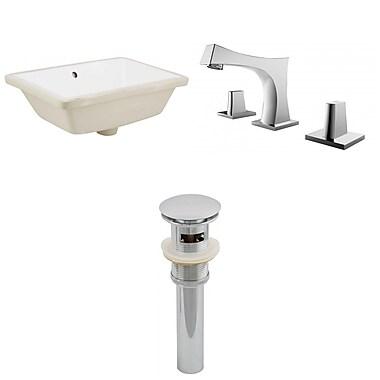 Jade Bath Rectangle Undermount Bathroom Sink w/ Overflow