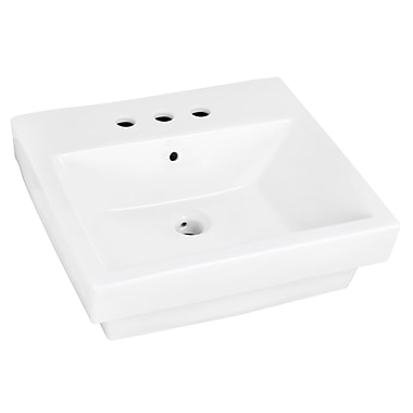 Jade Bath Above Counter Rectangular Vessel Bathroom Sink w/ Overflow