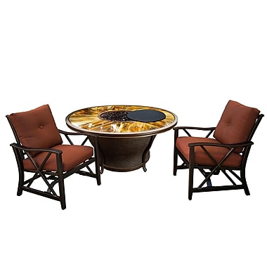 Darby Home Co Paxtonville 6 Piece Conversation Set w/ Cushions; Bronze