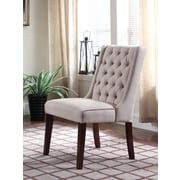 Darby Home Co Henriette Contemporary Upholstered Dining Chair (Set of 2); Beige