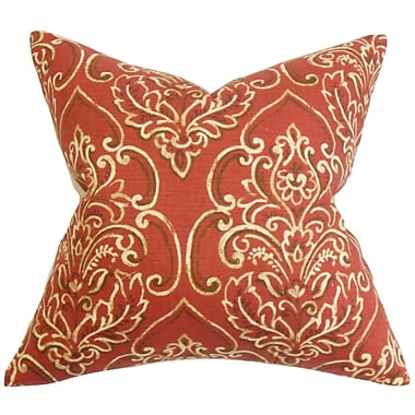 Darby Home Co Chancellor Floral Throw Pillow Cover; Red