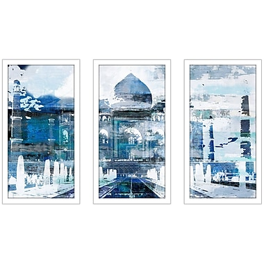East Urban Home 'Taj Mahal II' Framed Graphic Art Print Multi-Piece Image on Glass