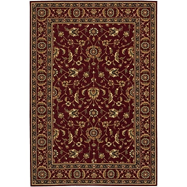 Alcott Hill Decatur Red/Yellow Area Rug; 4'7'' x 6'6''