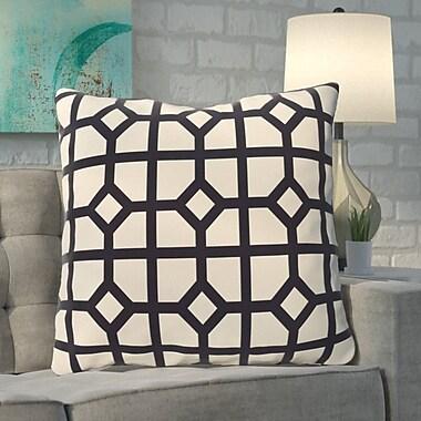 Brayden Studio Kestner Don't Fret Geometric Print Floor Pillow; Navy Blue