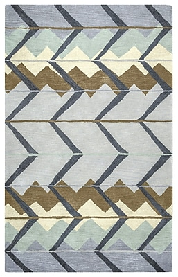 Brayden Studio Larkins Rectangle Hand-Tufted Blue/Light Blue Area Rug; 9' x 12'