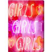 Ivy Bronx 'Girls Girls Girls' Graphic Art on Wrapped Canvas; 45'' H x 30'' W