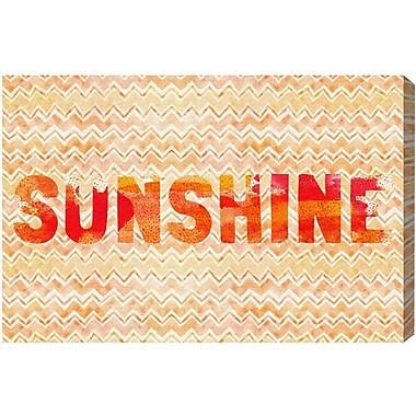 Ivy Bronx 'Sunshine' Textual Art on Canvas; 20'' H x 30'' W x 1.5'' D