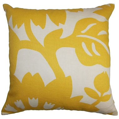 Ebern Designs Pittman Floral Cotton Throw Pillow; 18'' x 18''