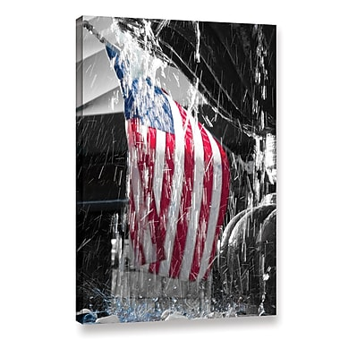 Williston Forge 'Star Spangled Splash' Graphic Art on Wrapped Canvas; 18'' H x 14'' W x 2'' D