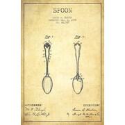 Williston Forge 'Spoon Vintage Patent Blueprint' Vintage Advertisement on Wrapped Canvas