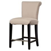 Latitude Run Carrico 24'' Bar Stool w/ Cushion; Beige