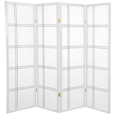 Mistana 60'' x 56'' Boyer 4 Panel Room Divider; White