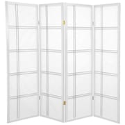 Mistana 60'' x 56'' Boyer 4 Panel Room Divider; White
