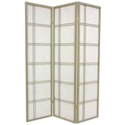 Mistana 70'' x 42'' Boyer 3 Panel Yellow Room Divider; Grey