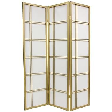 Mistana 70'' x 42'' Boyer 3 Panel Yellow Room Divider; Gold