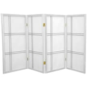Mistana 35.75'' Boyer Screen 4 Panel Room Divider; White