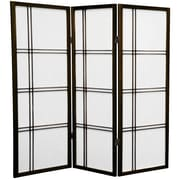 Mistana 48'' x 42'' Boyer 3 Panel Room Divider; Walnut