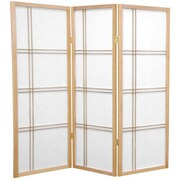 Mistana 48'' x 42'' Boyer 3 Panel Room Divider; Natural