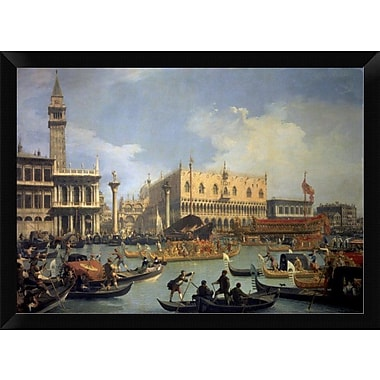 East Urban Home 'The Betrothal of the Venetian Doge to the Adriatic' Framed Oil Painting Print