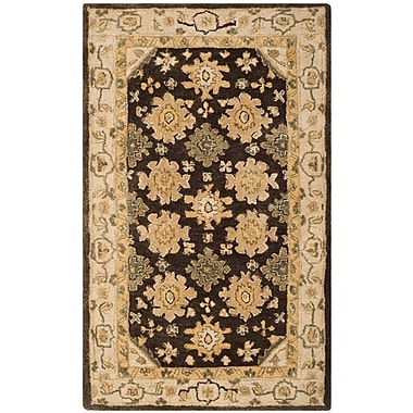 Alcott Hill Ladd Brown/Ivory Area Rug; 9' x 12'