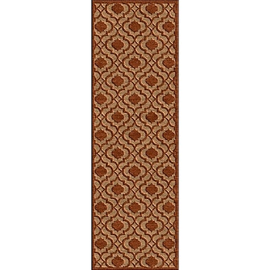 Charlton Home Countryman Rust/Tan Indoor/Outdoor Area Rug; 4'7'' x 6'7''