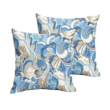 Darby Home Co Renningers Indoor/Outdoor Throw Pillow (Set of 2); 22'' H x 22'' W
