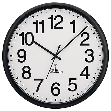 Symple Stuff 13.5'' Commercial Atomic Wall Clock