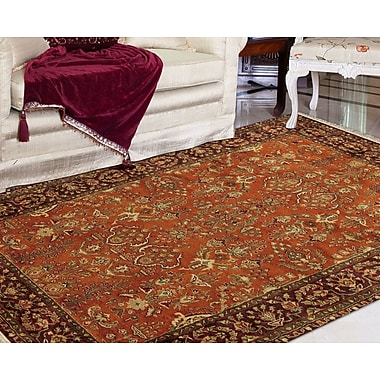 Alcott Hill Defranco Hand-Tufted Cinnamon/Brown Area Rug; 2' x 3'