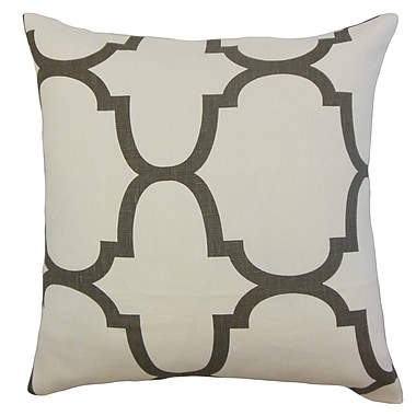 Darby Home Co Channon Geometric Linen Throw Pillow Cover; Clove