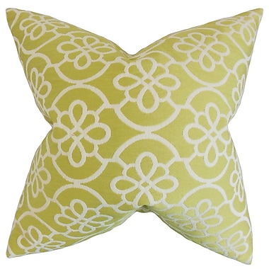 Darby Home Co Chaplain Geometric Throw Pillow Cover; Honeydew
