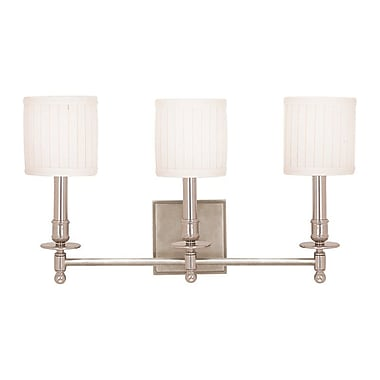 Darby Home Co Edwin 3-Light Vanity Light; Polished Nickel