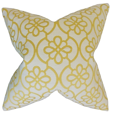 Darby Home Co Chaplain Geometric Throw Pillow Cover; Banana