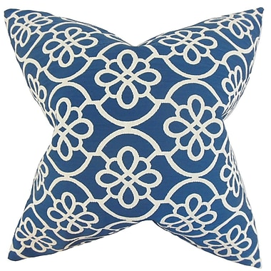 Darby Home Co Chaplain Geometric Throw Pillow Cover; Blue