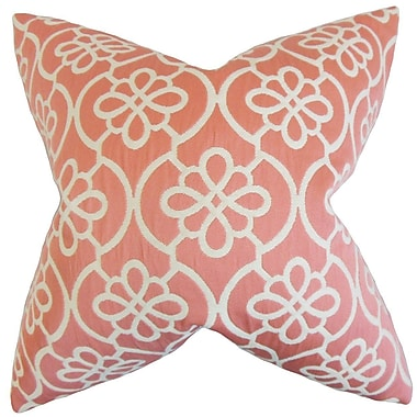 Darby Home Co Chaplain Geometric Throw Pillow Cover; Coral