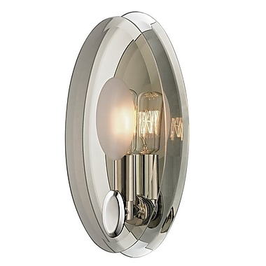 Rosdorf Park Gilma 1-Light Wall Sconce; Polished Nickel