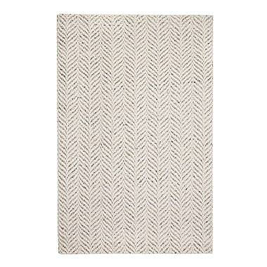 Union Rustic Sigrid Hand-Woven Ivory Area Rug; 8' x 10'