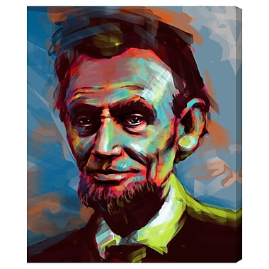 Ivy Bronx 'Lincoln' Painting Print on Wrapped Canvas; 36'' H x 30'' W x 1.5'' D
