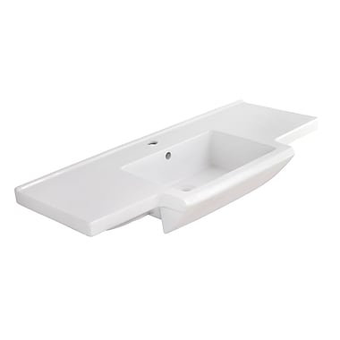 American Imaginations Prelude Ceramic 40'' Bathroom Vanity Top; Single Hole