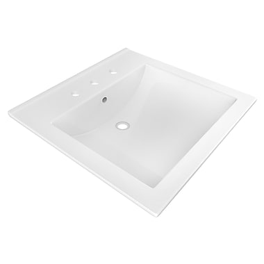 American Imaginations Ceramic 22'' Single Bathroom Vanity Top; 8'' Centers