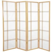 Mistana 60'' x 56'' Boyer 4 Panel Room Divider; Natural