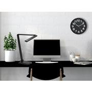 Orren Ellis Modern 13'' Round Wall Clock; Black