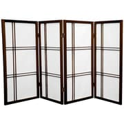 Mistana 35.75'' Boyer Screen 4 Panel Room Divider; Walnut